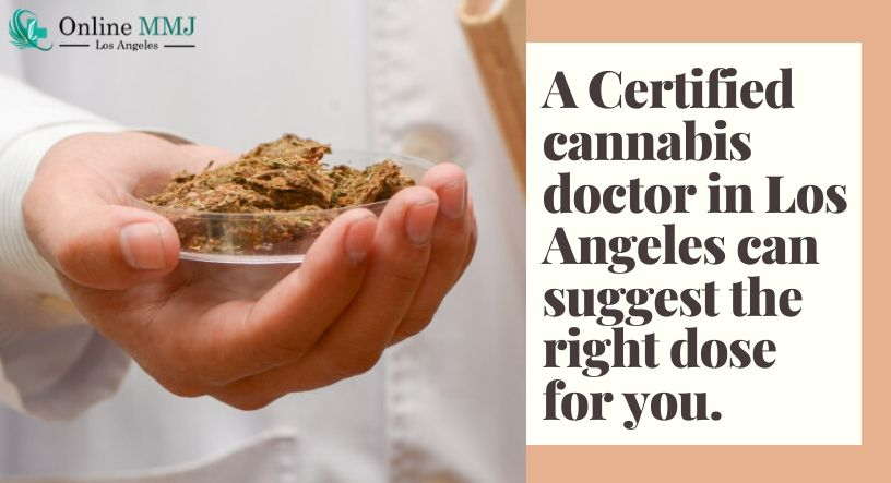 A Certified Cannabis Doctor In Los Angeles Can Suggest The Right Dose For You